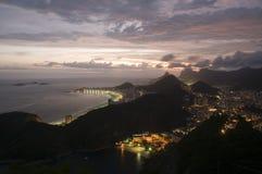 Copacabana de acima Imagens de Stock