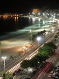 Copacabana de Night - 2 imagen de archivo libre de regalías