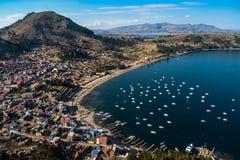 Copacabana el lago Titicaca fotografía de archivo libre de regalías
