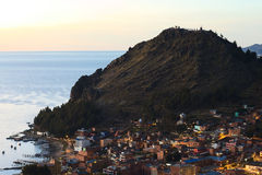 Copacabana en el lago Titicaca, Bolivia Foto de archivo libre de regalías