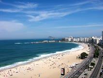 Copacabana- ethernal paradise. View over Copacabana Beach, Rio de Janeiro, Brazil Stock Images