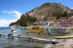 Copacabana. Lake Titicaca. Bolivia Stock Photos