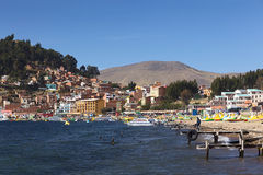 Copacabana at Lake Titicaca, Bolivia stock images