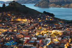 Copacabana at Lake Titicaca, Bolivia royalty free stock photo