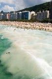 Copacabana (Leme). View from copacabana Beach (Leme), Rio de Janeiro, Brazil royalty free stock photo