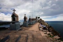 Copacabana, Meer Titicaca, Bolivië Stock Foto