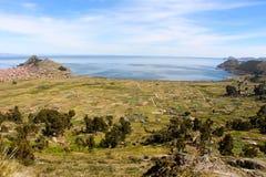 Copacabana miasto na Titicaca jeziorze Obrazy Stock