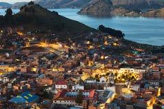 Copacabana på sjön Titicaca, Bolivia Royaltyfri Foto