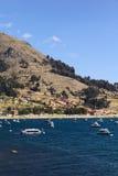 Copacabana på sjön Titicaca, Bolivia Royaltyfria Foton