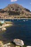 Copacabana på sjön Titicaca, Bolivia Royaltyfria Bilder