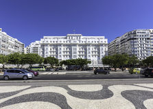 Copacabana Palace Hotel in Rio de Janeiro Royalty Free Stock Photography