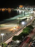 Copacabana par Night - 2 Image libre de droits