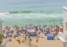 Copacabana plaży widok z lotu ptaka zdjęcia royalty free