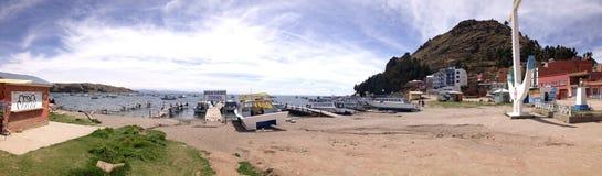 Copacabana plaża, titicaca jezioro Fotografia Stock