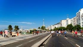 Copacabana in Rio de Janeiro royalty-vrije stock afbeelding