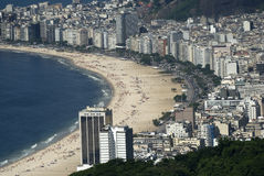 Copacabana, Rio de Janeiro, Brazil. The world-famous beach of Copacabana seen from the Sugarloaf Stock Image