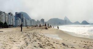Copacabana, Rio de Janeiro. CIRCA SEPTEMBER 2000: Panorama: the beach of Copacabana Beach, Copacabana, Rio de Janeiro, Brasil Stock Image