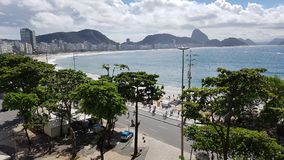 Copacabana, Rio De Janeiro, woda, morze, wybrzeże, wakacje Fotografia Stock