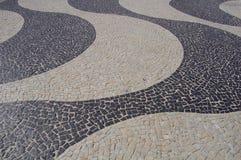 Copacabana sidewalk. Typical sidewalk in copacabana (Rio de Janeiro - Brazil royalty free stock photography