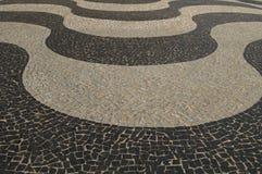Copacabana sidewalk. In front of the beach stock photos