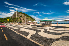 Copacabana Sidewalk Mosaic royalty free stock image