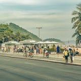 Copacabana Sidewalk Rio de Janeiro Brazil Stock Photo