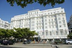 Copacabana slotthotell Rio de Janeiro royaltyfria foton