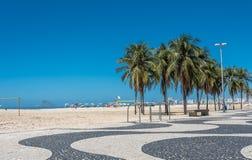 Copacabana strand i Rio de Janeiro, Brasilien royaltyfri fotografi