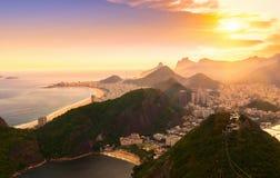 Copacabana strand och Botafogo i Rio de Janeiro _ royaltyfri bild