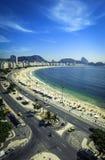 Copacabana strand och Sugar Loaf Mountain, Rio de Janeiro Fotografering för Bildbyråer