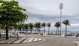 Copacabana-Strand in Rio de Janeiro Stockfotos