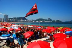 Copacabana strand Rio de Janeiro Brasilien Fotografering för Bildbyråer