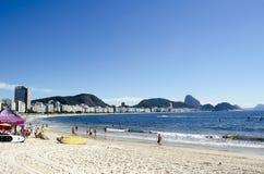 Copacabana strandbyggnader Royaltyfria Foton