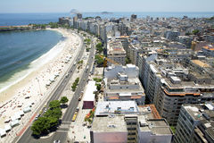 Copacabana strandpanorama Fotografering för Bildbyråer