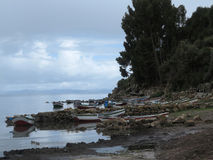 Copacabana, titicaca lake royalty free stock photo