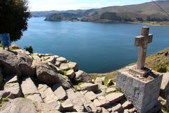 Copacabana  on the Titicaca lake Stock Photography