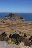Copacabana on Titicaca lake shore Stock Image