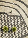 Copacabana trottoar, Rio de Janeiro royaltyfria bilder