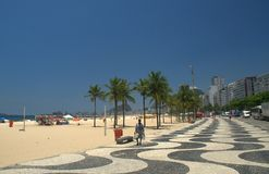 Copacabana. A view of the classic paving at Copacabana beach Royalty Free Stock Images