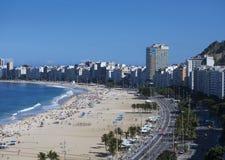 Copacabanastrand in Rio De Janeiro Brazil Stock Foto's