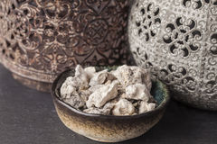 Copaifera officinalis resin. Copaifera copaiba - bearer is an aromatic resin, used for religious rites, incense and perfumes in Latin America Royalty Free Stock Photos