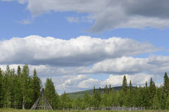Copain traditionnel d'été en Laponie Photographie stock