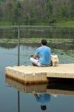 Copains de pêche Photo stock