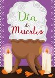 Copal& traditionnel x27 ; encensoir, bougies et pétales pour et x22 de s ; Dia de Muertos et x22 ; , Illustration de vecteur Photographie stock libre de droits