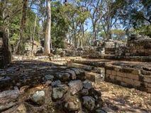 Copan arkeologisk plats av Mayan civilisation, inte långt från gränsen med Guatemala Det var huvudstaden av det huvudsakliga klas arkivfoto