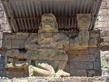 Copan arkeologisk plats av Mayan civilisation, inte långt från gränsen med Guatemala Det var huvudstaden av det huvudsakliga klas royaltyfri bild