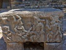 Copan arkeologisk plats av Mayan civilisation, inte långt från gränsen med Guatemala Det var huvudstaden av det huvudsakliga klas royaltyfri foto