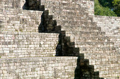 Copan-flight of stairs. Stonestairs in light and shadow Stock Images