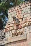 Copan, Honduras: iconic macaw-shaped marker in the ball game court Royalty Free Stock Images