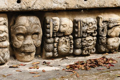 Copan Mayan ruins in Honduras. Honduras, Mayan city ruins in Copan. The picture presents detail of decorating walls of the temple Stock Photos